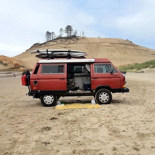 van-life:    Model: 1989 VW Syncro Westfalia  Location: Pacific City, Oregon 2012
