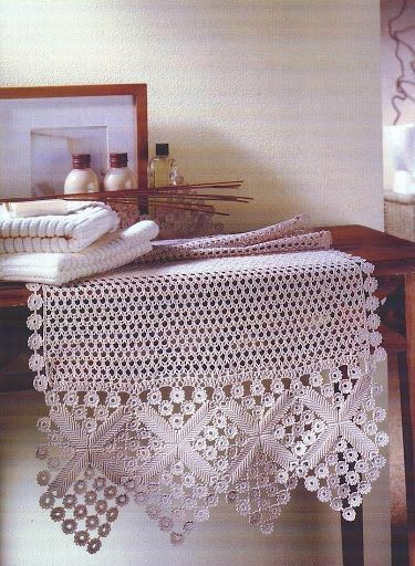 Decorative Crochet, September 2004  - lace crochet table topper