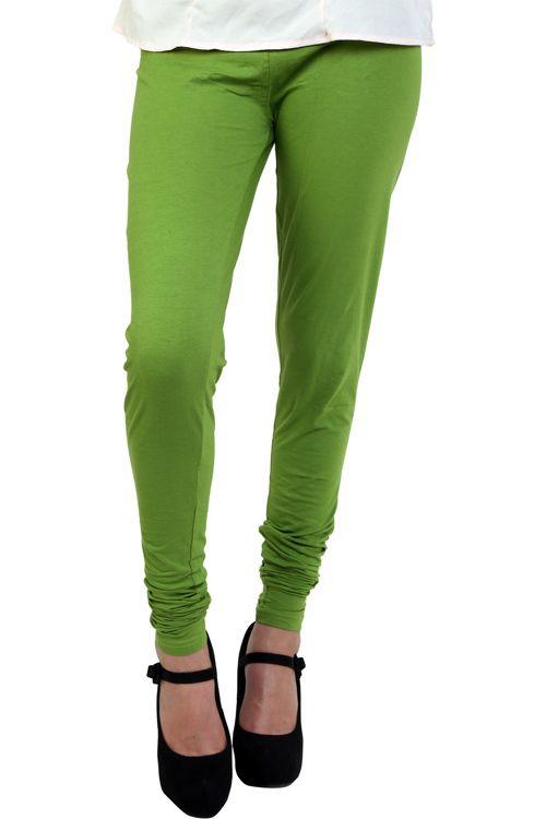 Stylish Designer Party Wear Mehendi Color Legging