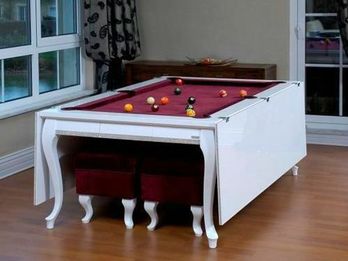 I would want a pool table in our second home if space permits. I do miss playing pool.