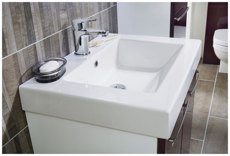 The stylish della monoblock basin mixer is the ideal finishing touch for this contemporary washbasin unit #youmodular #bathroomfurniture #myutopia