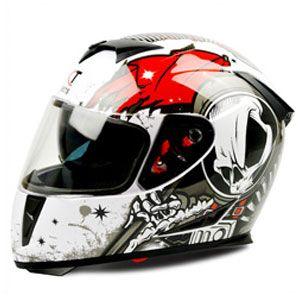 Mũ bảo hiểm fullface GXT 2016 trắng đỏ