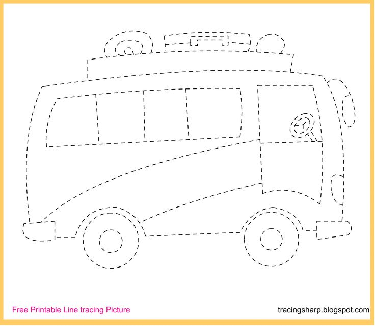 free tracing line printable bus picture grafismos pinterest buses vehicles. Black Bedroom Furniture Sets. Home Design Ideas