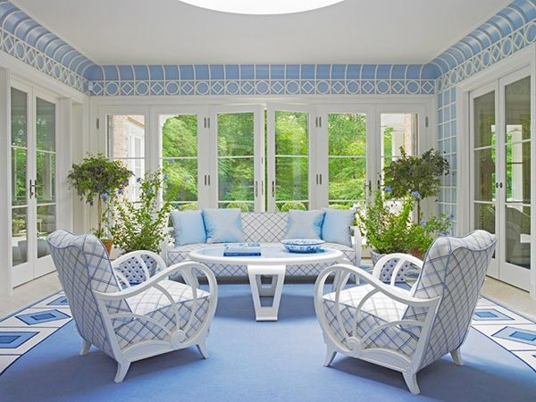 50 Dekorasi Interior Ruang Tamu Dengan Warna Cat Biru - Kumpulan Desain Rumah Minimalis
