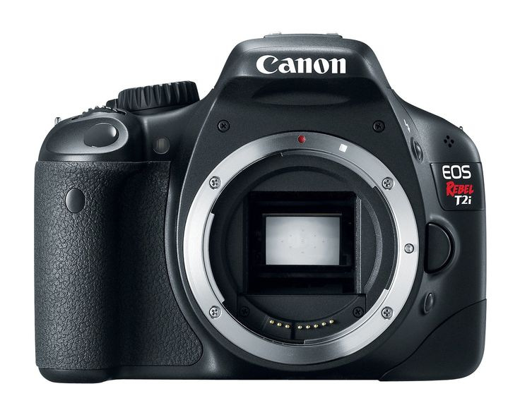 Canon EOS Rebel T2i DSLR Camera (Body Only) (Discontinued by Manufacturer). 18.0-megapixel CMOS (APS-C) sensor; DIGIC 4 Image Processor for high image quality and speed. Body only; lenses sold separately. ISO 100-6400 (expandable to 12800) for shooting from bright to dim light; enhanced 63-zone, Dual-layer metering system. Improved EOS Movie mode with manual exposure control and expanded recording 1920 x 1080 (Full HD). Wide 3.0-inch Clear View LCD monitor; dedicated Live View/Movie…