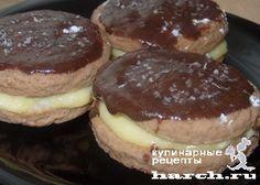 Шоколадные пирожные с кокосовым кремом