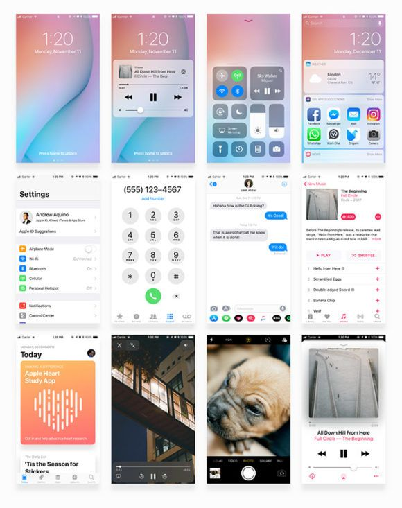 Facebook iOS 11 iPhone UI kit Get Free Resources Pinterest