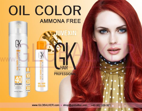 GK Hair oil color ammonia free Global Keratin Juvexin