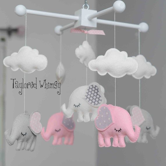 Elephant Mobile - Custom Mobile (ships in 3-4 weeks) on Etsy, $85.00