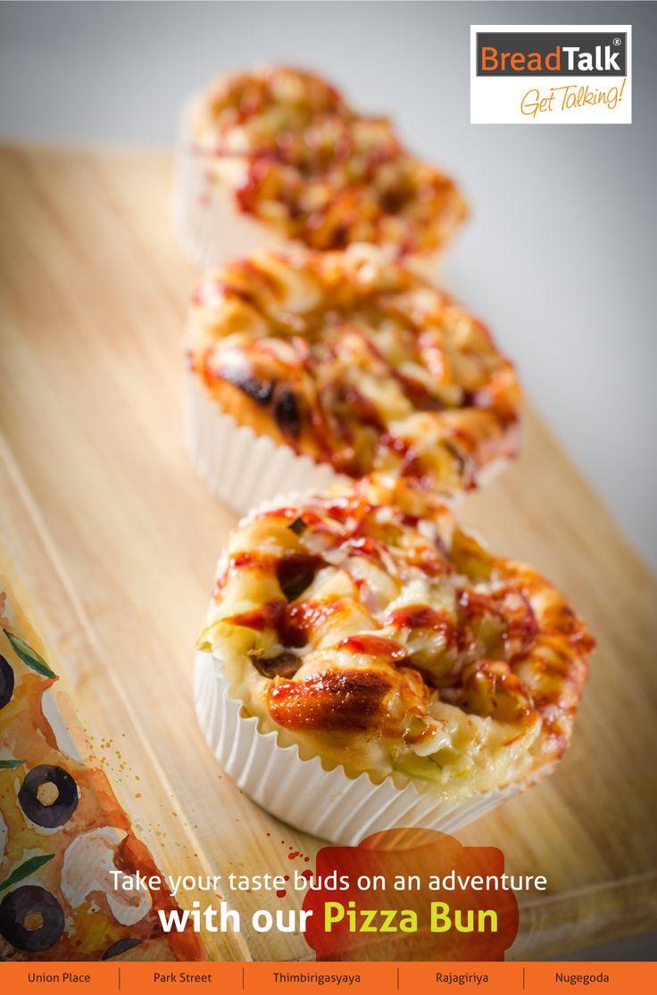 Take your taste buds on an adventure with pizza bun! LKR 216 #pizzabun #sweetbun #breadtalkSL