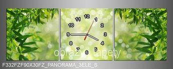 # Obraz na płótnie z zegarem drzewa 90x30