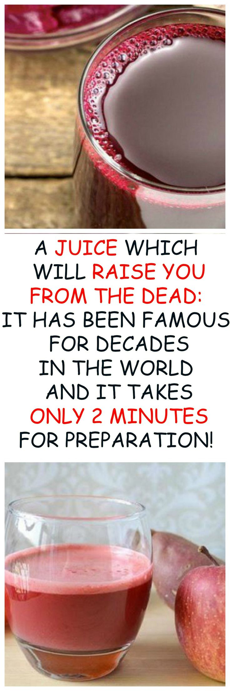 A JUICE WHICH WILL RAISE YOU FROM THE DEAD.IT HAS BEEN FAMOUS FOR DECADES IN THE WORLD AND IT TAKES ONLY TWO MINUTES FOR PREPARATION..