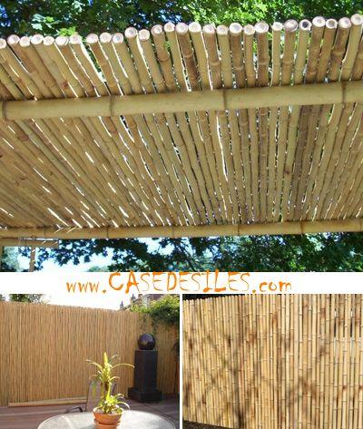 Cloture bambou regulier à Prix Canon : clôture bambou régulier panneau L1-H1m