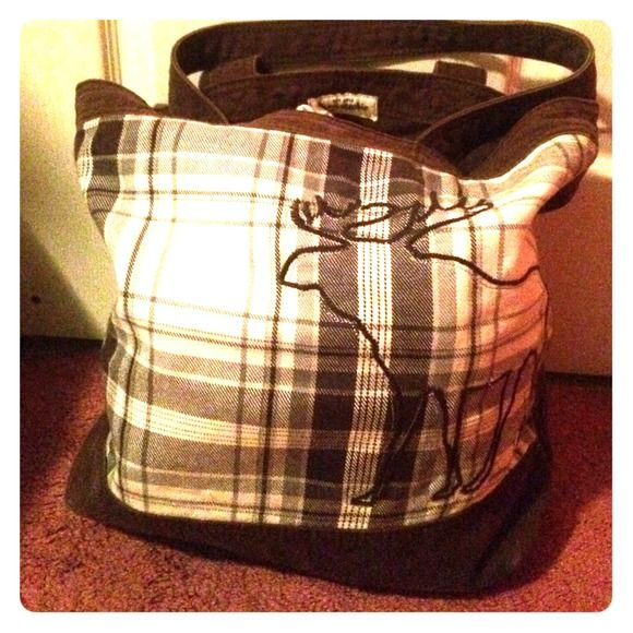 Abercrombie Tote Bag Brown Abercrombie Tote with Moose Abercrombie & Fitch Bags Totes