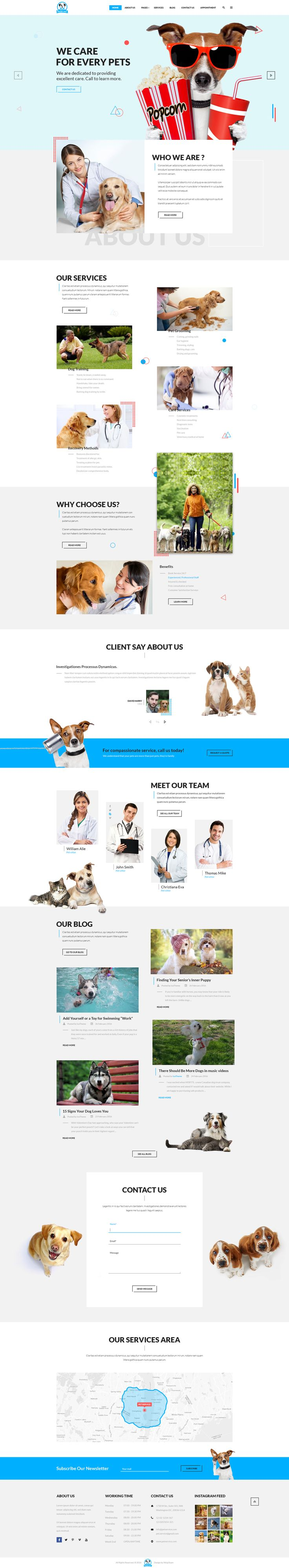 Pet Service - A Pet Services PSD Template • Download ➝ https://themeforest.net/item/pet-service-a-pet-services-psd-template/15430137?ref=pxcr