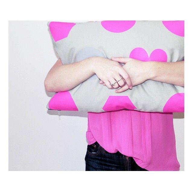 Jennifer + Smith   Magenta Shapes   http://www.jenniferandsmith.com.au/oblong-cushions/magenta-shapes #cushionselfie #jenniferandsmith