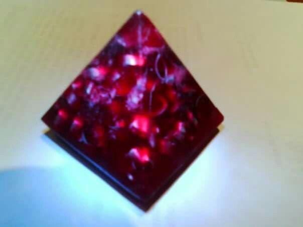#orgonite piramid tinggi 5cm
