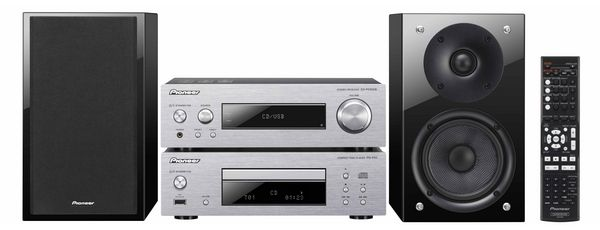 P1DAB-S Compact Component HiFi System with DAB Radio, CD, iPod/iPhone Playback, front USB and 75W Speakers (Silver) - Pioneer Sound System, iPod Dock  http://www.pioneer.eu/eur/products/42/202/227/P1DAB-S/page.html