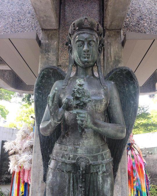 Monumento que representa el lugar del estallido de la primera bomba atómica lanzada sobre población civil.  #hiroshima #japan #travel #festival #backpacker (en Ground Zéro A- bomb Hiroshima)