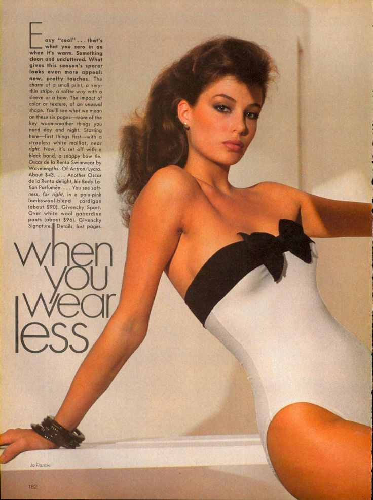 US Vogue Feb 1981   When You Wear Less Photo Jo Francki