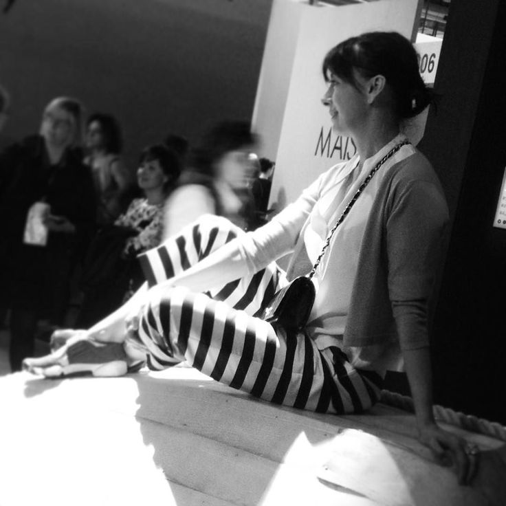 """""""The architect is present"""" and she's JOYFUL.  Cristiana Cutrona architect and creative director of A JOYFUL SENSE AT WORK Salone del Mobile 2016 sitting on one of our sculptures.  #creativity #salonedelmobile2016 #salonedelmobile #ajoyfulsenseatwork #ilovemyjob #art #workplace #portrait #architect  @revaluestudio by robertamaddalena"""