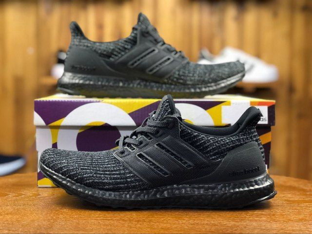9374be966750f6 Adidas Ultra Boost 4. 0 Triple Black Bb6171 Mens Running Shoes ...