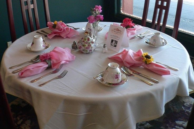 high tea table setting - Google Search