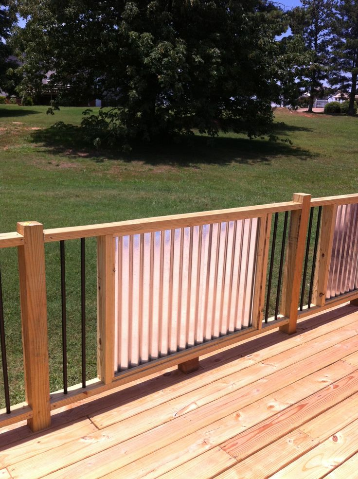 My New Railings. Corrugated Metal And Metal Balusters. My