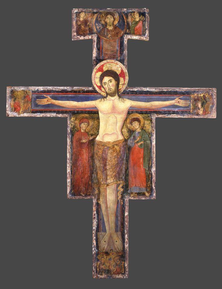 Распятие Христово. Крест расписной.; Италия. Умбрия; XII в
