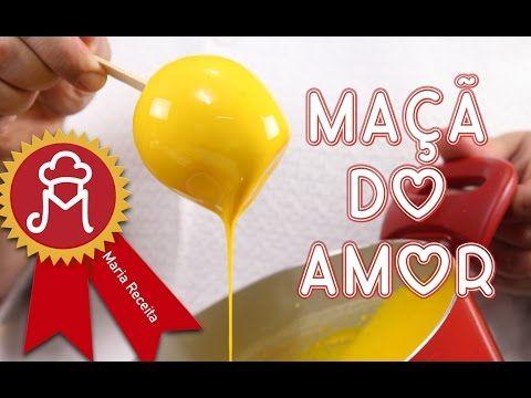 Maçã do Amor amarela, verde, azul, vermelha...... COLORIDA. - YouTube