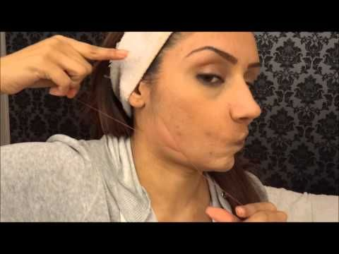 Step by Step Threading facial hair at home || Raji Osahn - YouTube