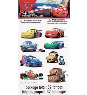 #DisneyCars Temporary Tattoos