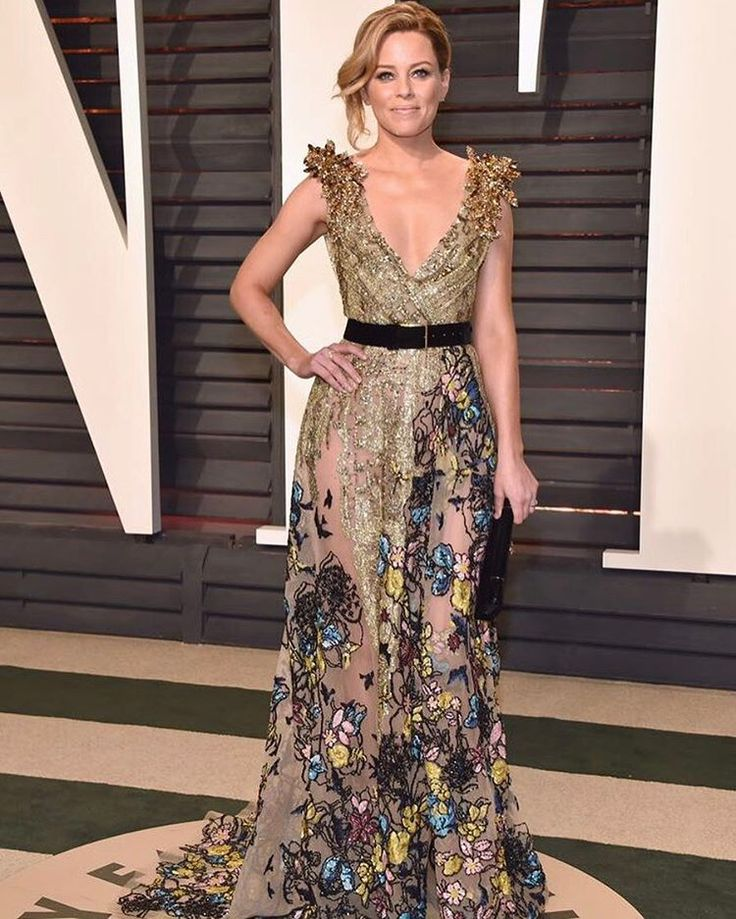 "29.7k Likes, 94 Comments - ELIE SAAB (@eliesaabworld) on Instagram: ""Golden goddess | @elizabethbanks in ELIE SAAB Haute Couture at the 2017 Vanity Fair Oscar party…"""