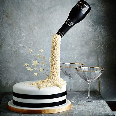 New Year Champagne Cake - from Lakeland