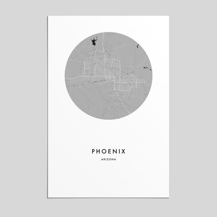 Best Phoenix Arizona Map Ideas On Pinterest Map Of Phoenix - Arizona city maps