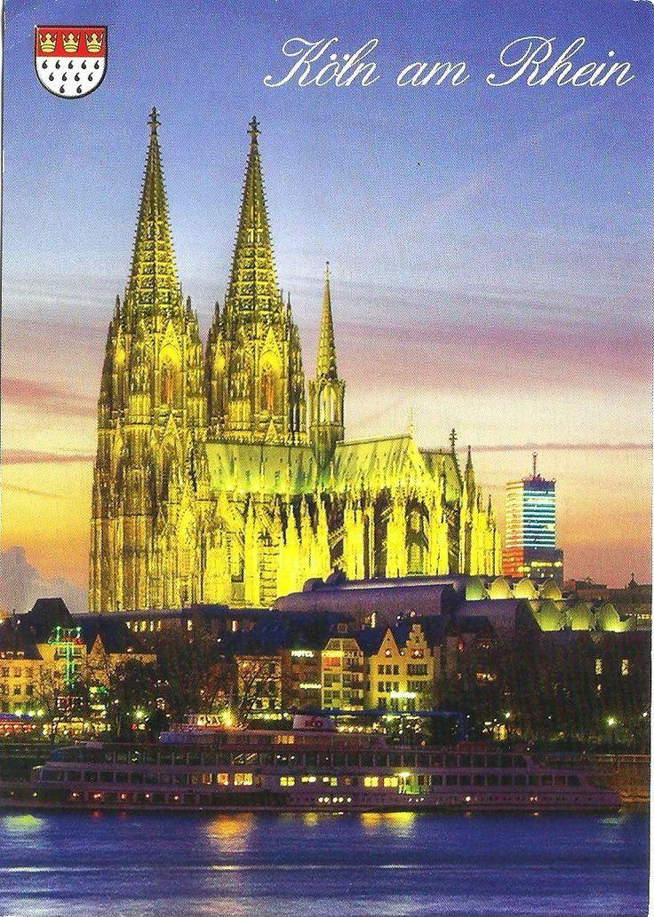 Koln am Rhein (Postcard by Citysights, K 52-WPK, www.citysights.ch , Photo by Dreadlock Fotolia). Postcrossing ID : DE-4105621