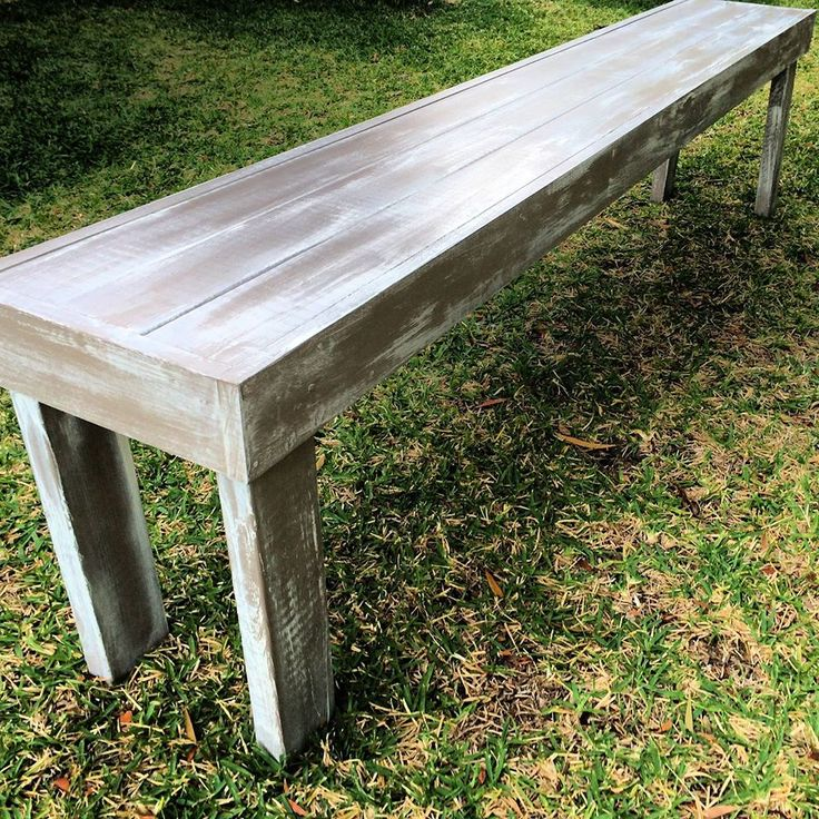 7 pine sleepers from Bunnings, a can of brown paint, can of white paint, furniture wax and some screws is all I used to make this long side table to fill an empty wall in my house.