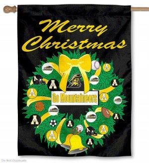 Appalachian State University Holiday Flag   I Want THIS..