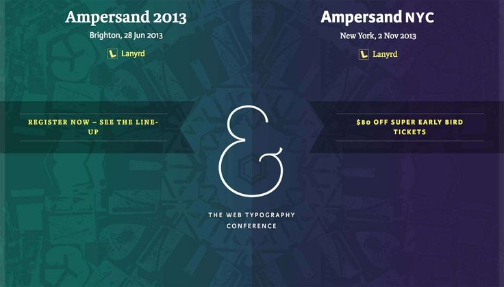 Ampersand 2013: The web typography conference