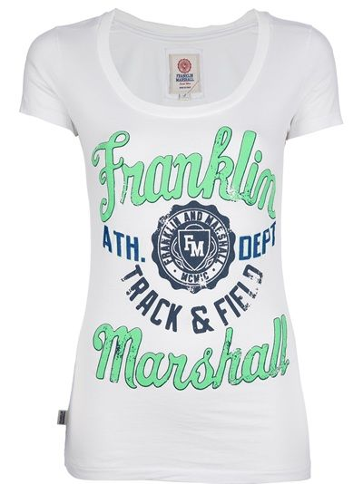 FRANKLIN and MARSHALL Camiseta Branca.