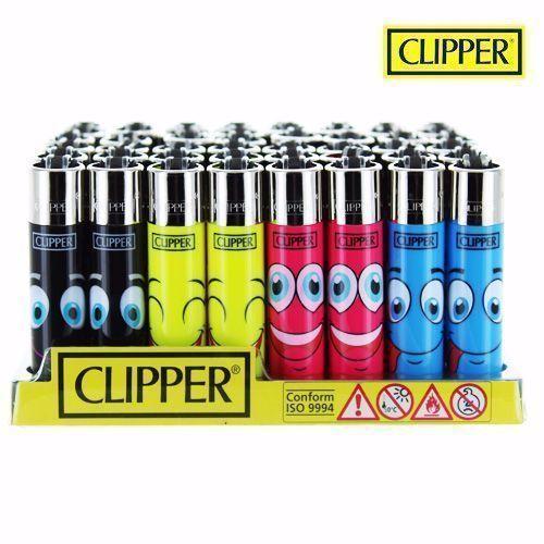 Boite de 48 briquets Clipper Faces 5
