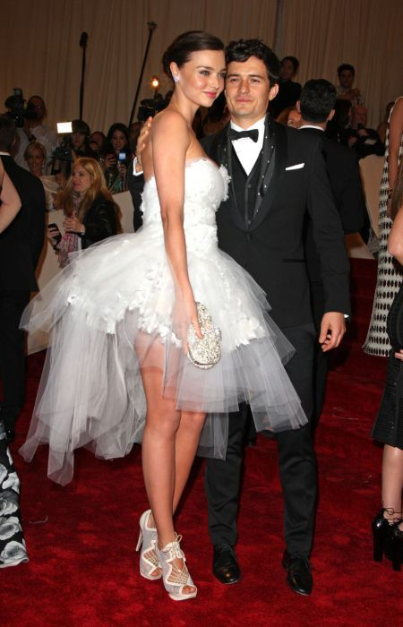 English actor, Orlando Bloom with his ex-wife who is an Australian model and famous Victoria's Secret Angel, Miranda Kerr...
