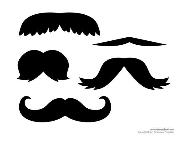 mustache print out template - best 10 mustache template ideas on pinterest moustache