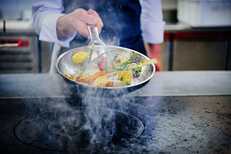 Le Creuset Bi-Ply Frying Pan (Fried Spring Vegetables)