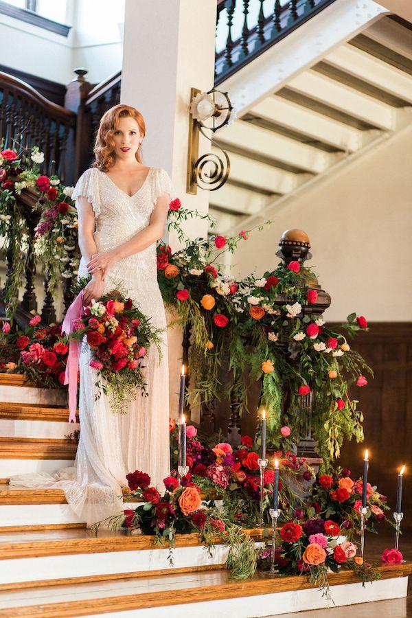 Titanic Inspired Wedding Editorial - Vintage Meets Glam