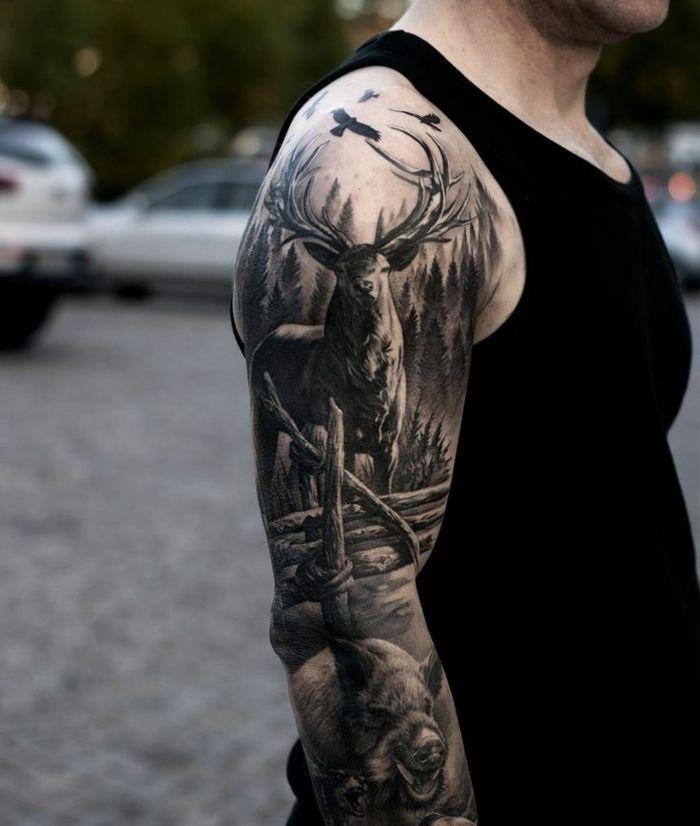 Les 25 meilleures id es de la cat gorie cou tatouage oiseau sur pinterest tatouages d 39 oiseaux - Tatouage cerf signification ...