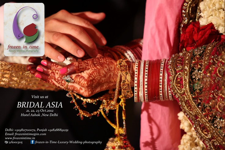 Looking forward to see you all at our booth in Bridal Asia, Hall B, 21-22-23 Oct, 2012, Hotel Ashok, New Delhi    E: info@frozenintime.com