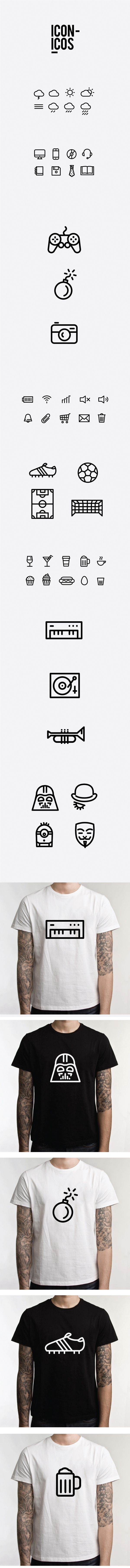 ICONICOS by Adrián Heras, via Behance #Behance @Behance