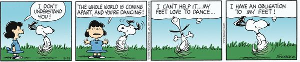 Snoopy's Rationale for Dancing