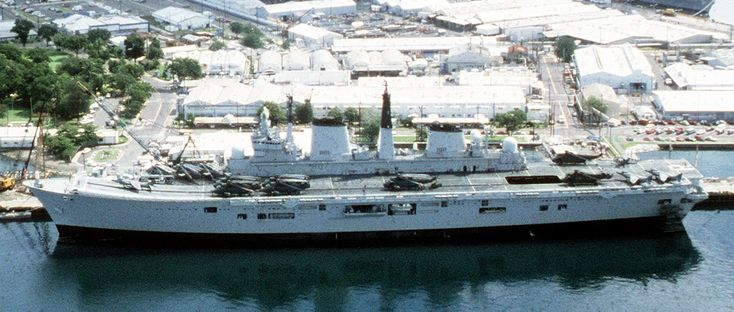 hms ark royal r07 subic bay philippines